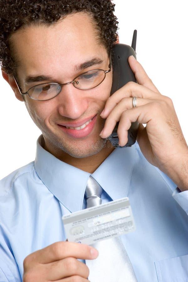 Homem de negócios do cartão de crédito imagens de stock royalty free