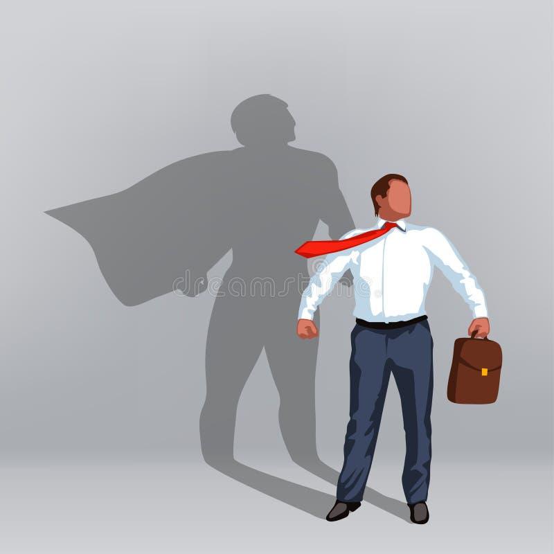 Homem de negócios 06 do herói ilustração royalty free