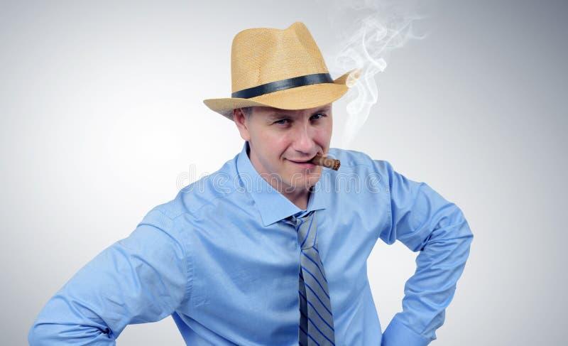 Homem de negócios do menino da vaca no retrato do laço fotografia de stock royalty free