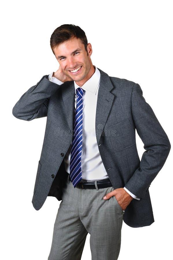 Homem de negócios do retrato foto de stock