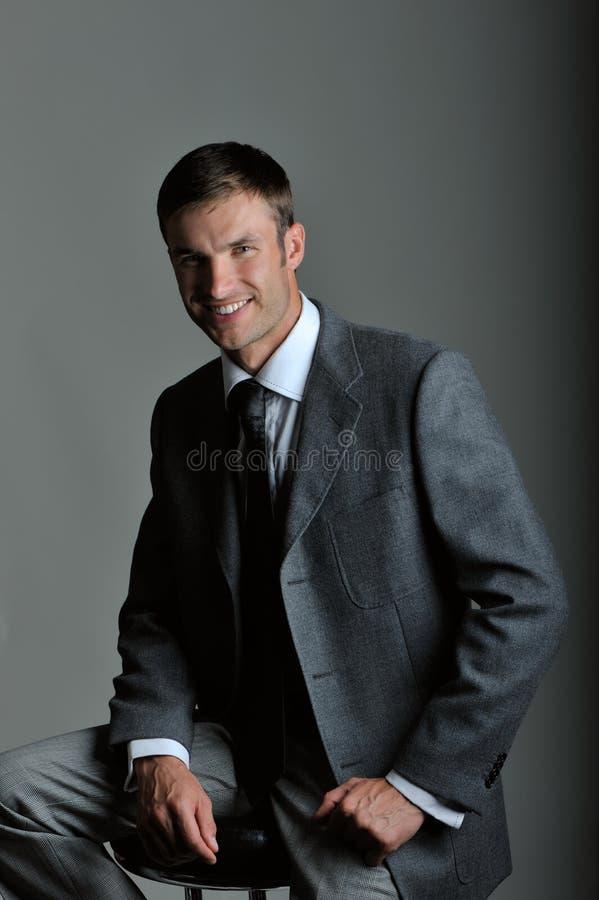 Homem de negócios do retrato fotografia de stock