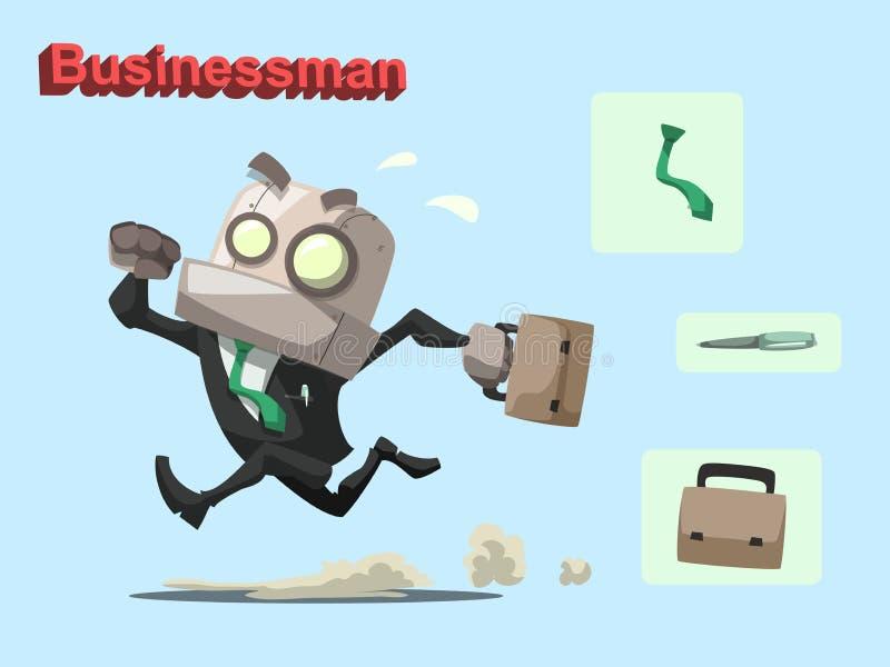 Homem de negócios do robô ilustração royalty free