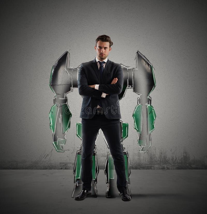 Homem de negócios do robô imagens de stock