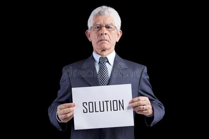 Homem de negócios do sénior da perícia imagens de stock
