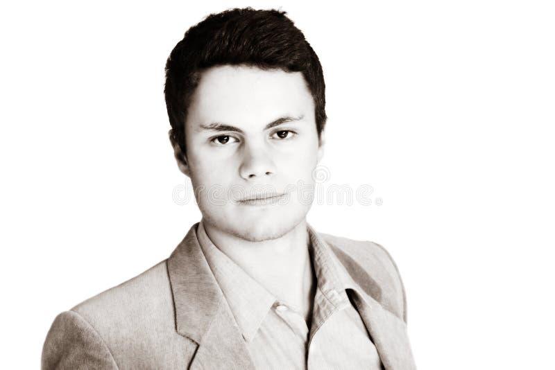 Homem de negócios do Sepia fotografia de stock