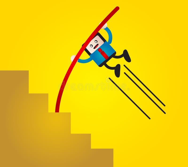 Homem de negócios do sucesso ilustração do vetor