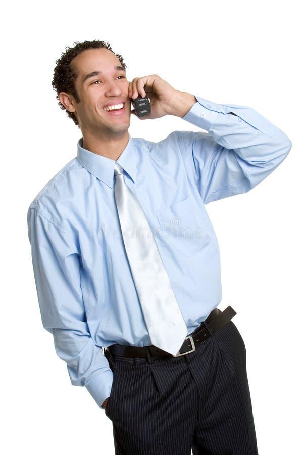 Homem de negócios do telefone fotos de stock