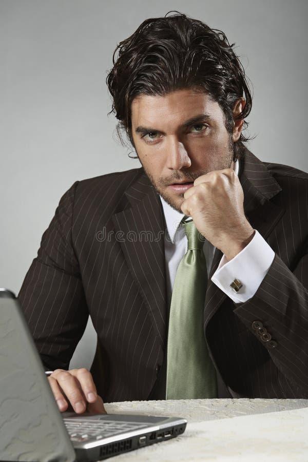 Homem de negócios do vencedor imagens de stock