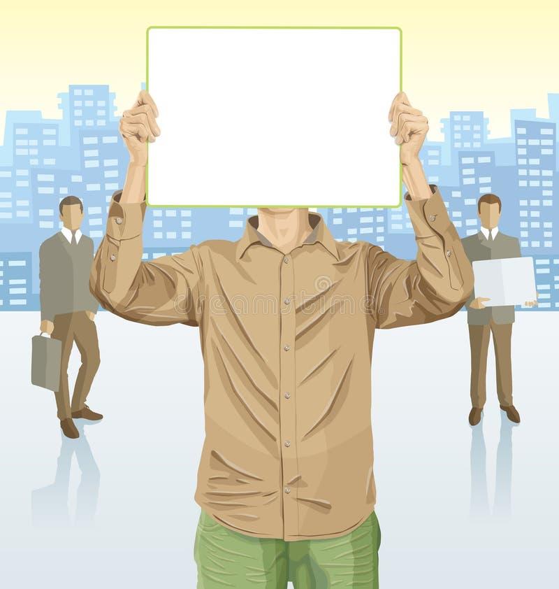 Homem de negócios do vetor e silhuetas dos executivos ilustração do vetor