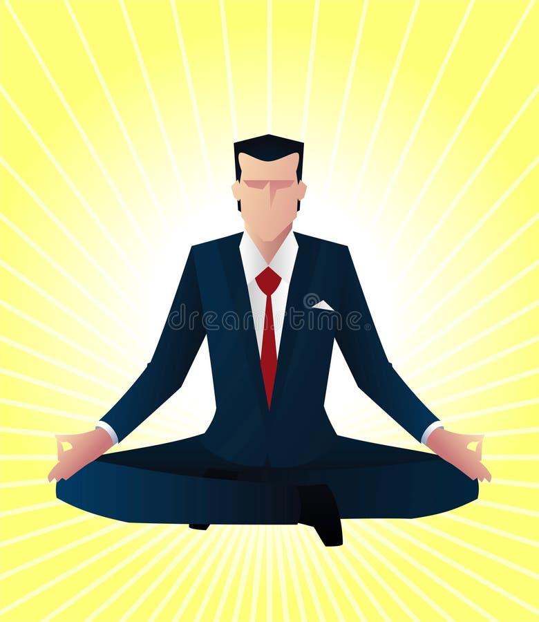 Homem de negócios do zen ilustração do vetor