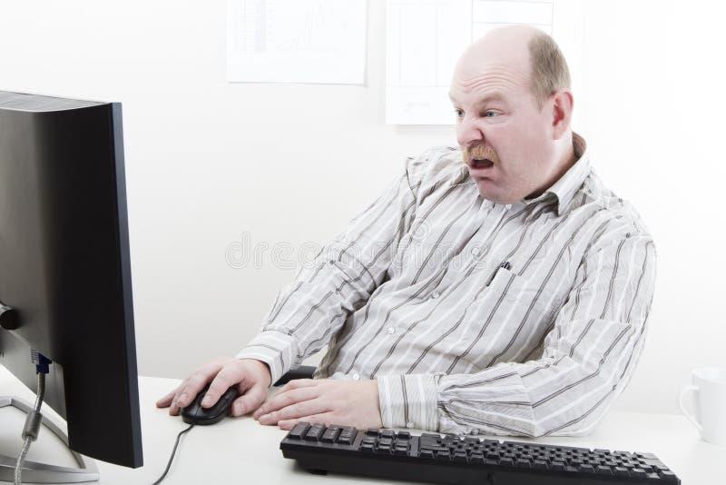 Homem de negócios doente e cansado imagens de stock royalty free