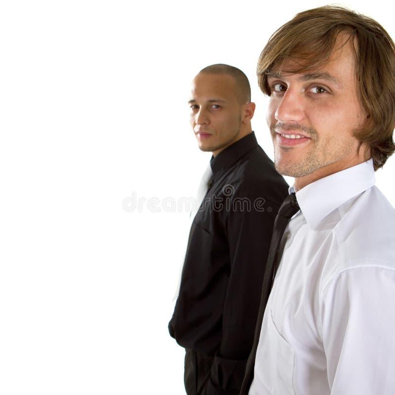 Homem de negócios dois fresco imagens de stock