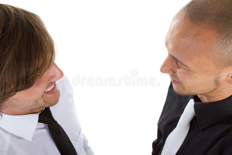 Homem de negócios dois fresco imagem de stock royalty free