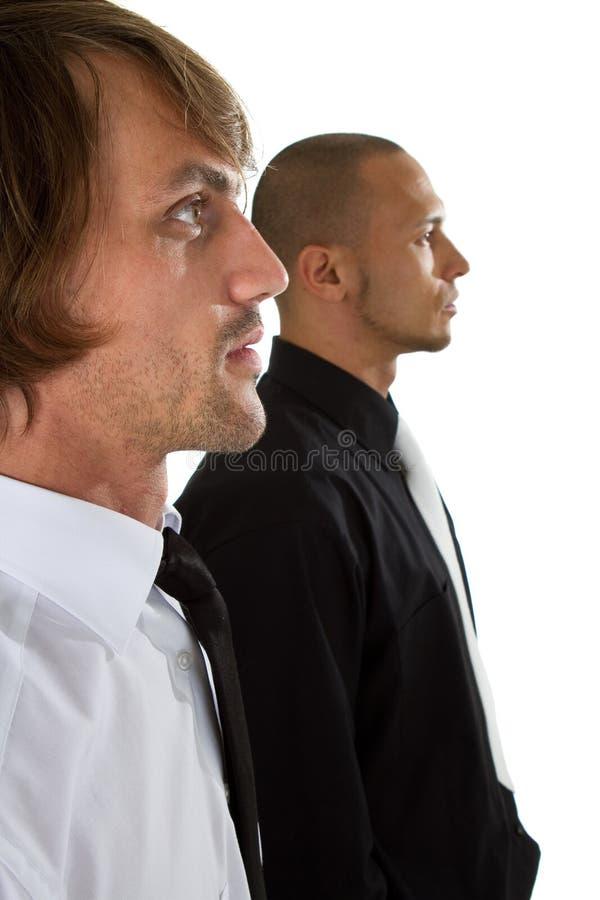 Homem de negócios dois fresco imagens de stock royalty free