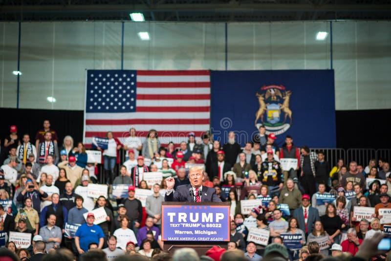 Homem de negócios Donald Trump foto de stock