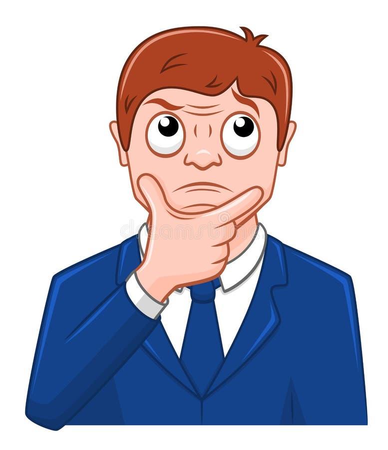 Homem de negócios dos desenhos animados meditado ilustração royalty free