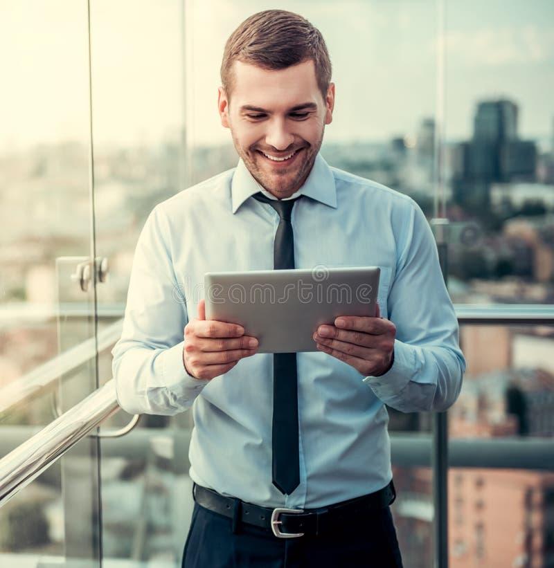 Homem de negócios durante a ruptura fotos de stock royalty free