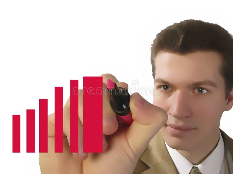 Homem de negócios e diagrama imagem de stock