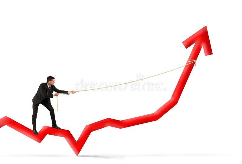 Homem de negócios e lucro incorporado imagem de stock