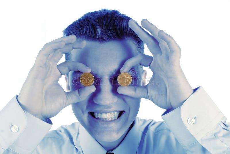 Homem de negócios e moeda fotos de stock