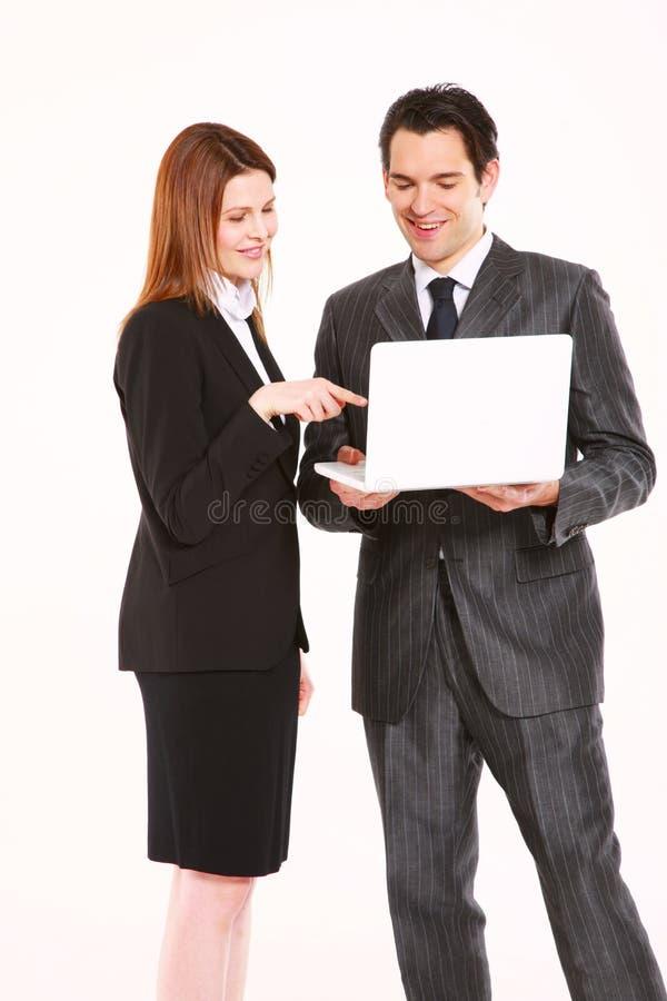 Homem de negócios e mulher de negócios foto de stock royalty free