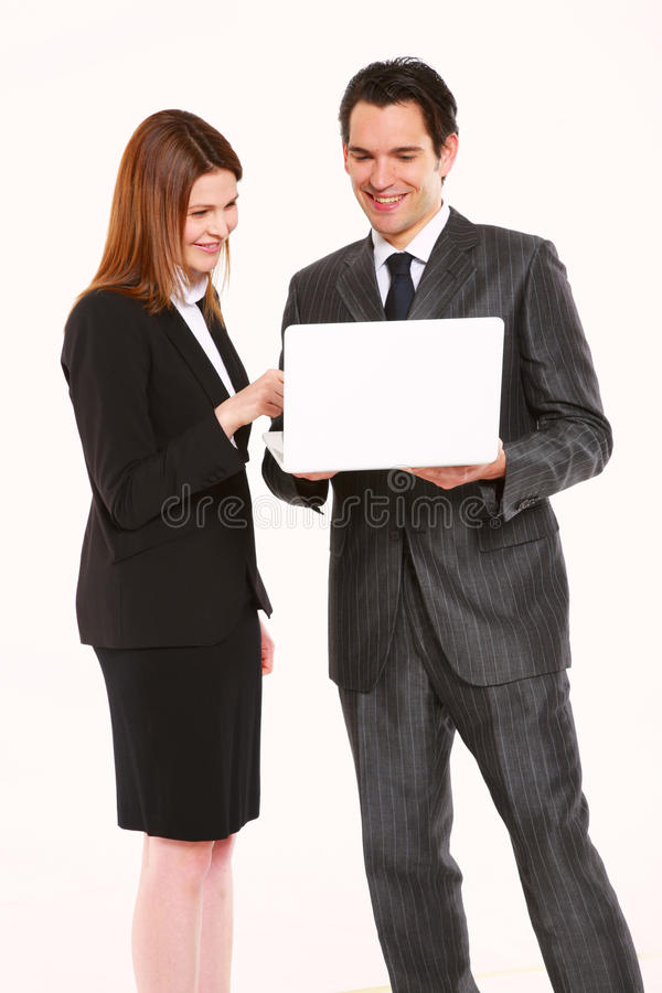 Homem de negócios e mulher de negócios imagens de stock
