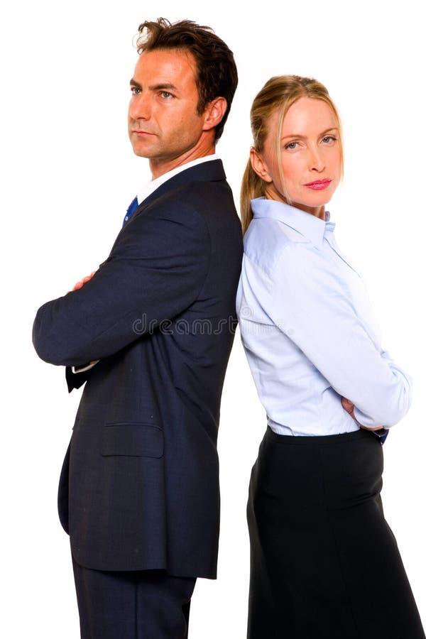 Homem de negócios e mulher de negócios fotografia de stock royalty free
