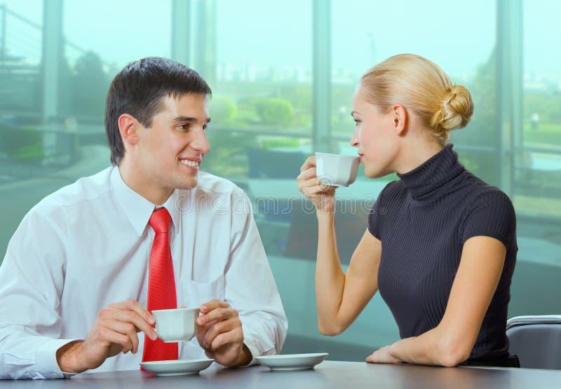 Homem de negócios e mulher de negócios imagens de stock royalty free