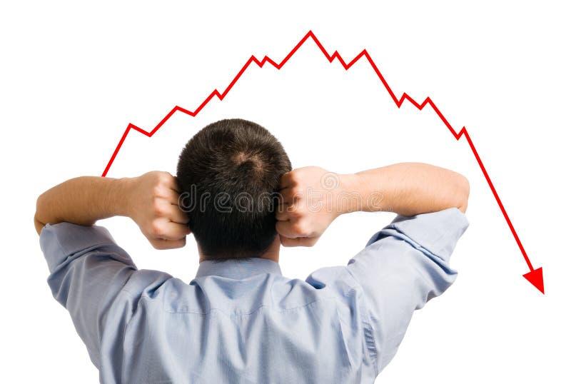 Homem de negócios e parte de diminuição fotos de stock