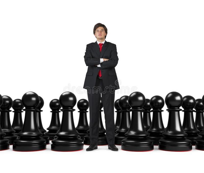 Homem de negócios e penhores fotografia de stock royalty free