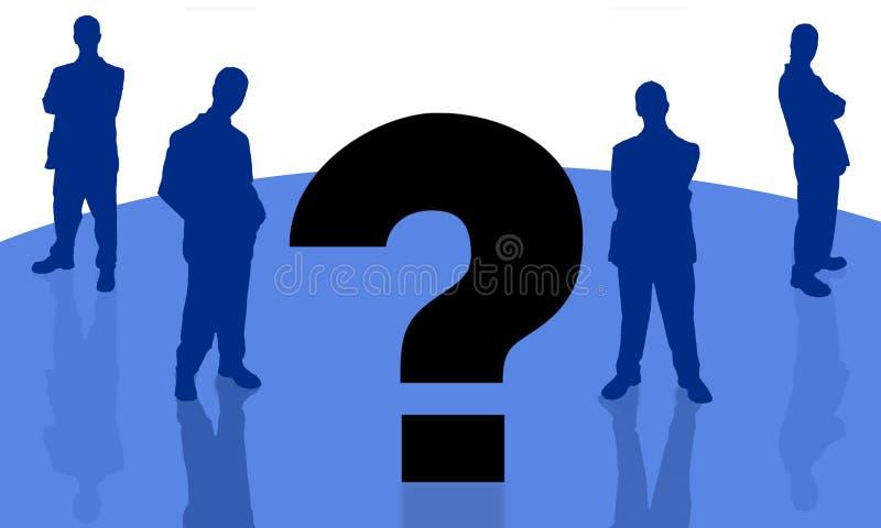 Homem de negócios e question-3 ilustração royalty free