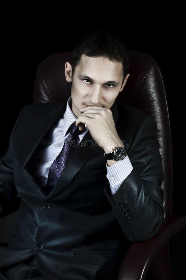 Homem de negócios elegante considerável imagem de stock royalty free