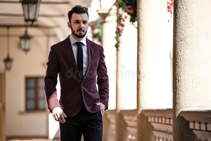 Homem de negócios elegante novo fotografia de stock royalty free