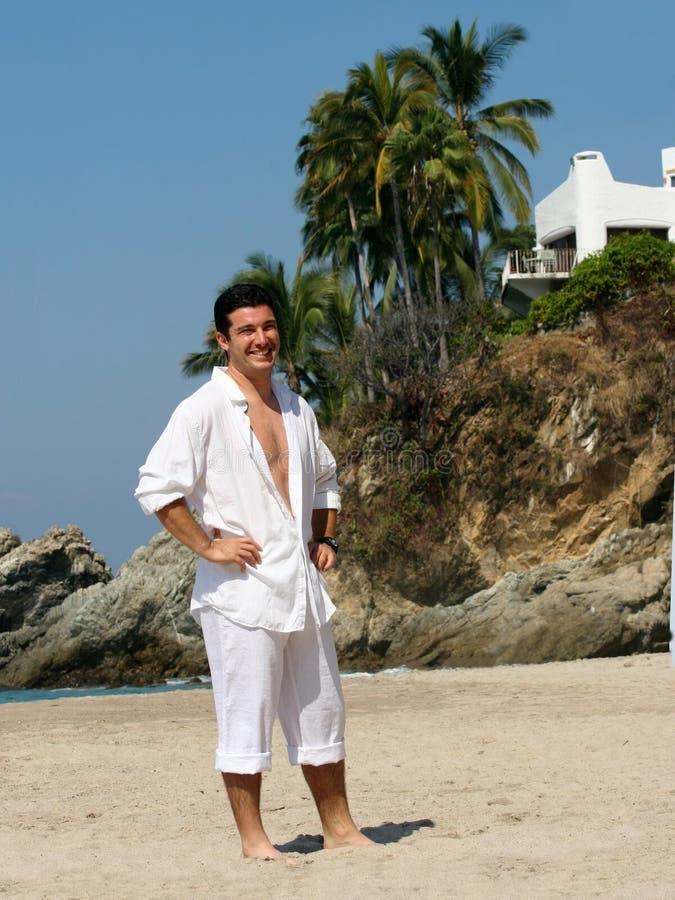 Homem de negócios em férias fotografia de stock royalty free
