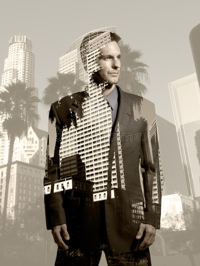 Homem de negócios em Los Angeles imagens de stock royalty free