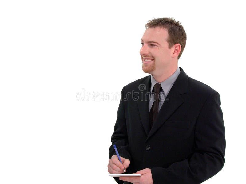 Homem de negócios, empregado de mesa foto de stock