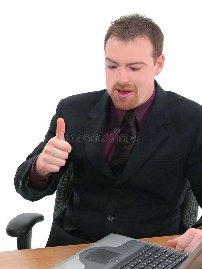 Homem de negócios, empregado de mesa imagens de stock