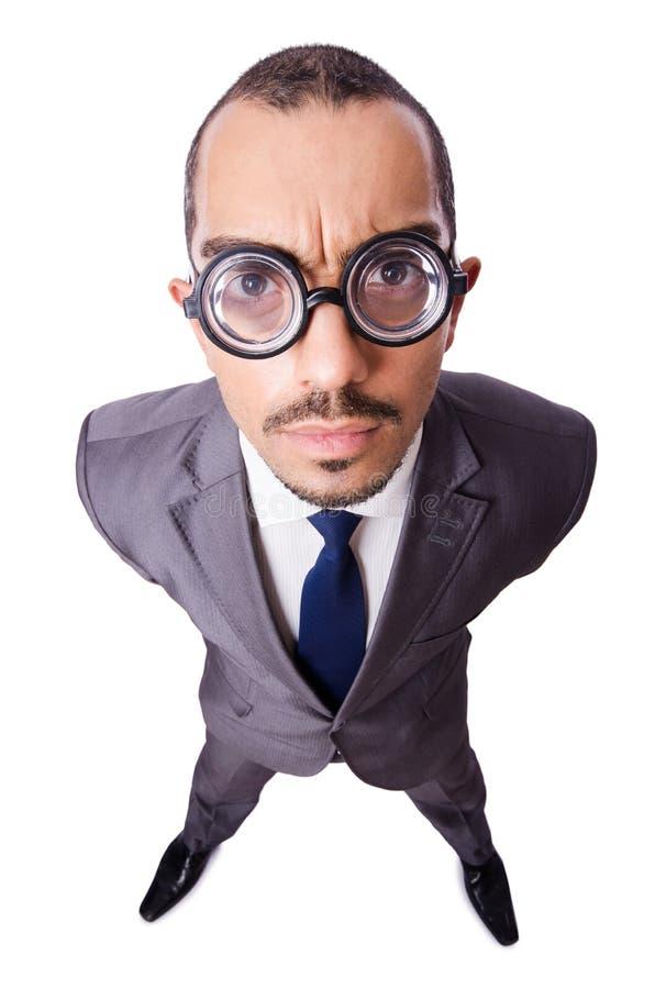 Homem de negócios engraçado imagem de stock royalty free