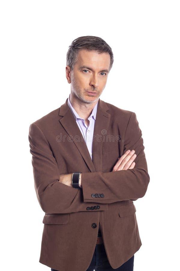 Homem de negócios envelhecido médio Looking Confident ou arrogante imagem de stock royalty free
