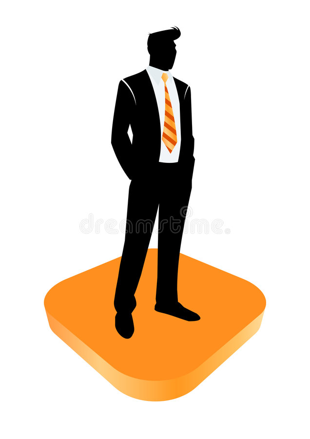 Homem de negócios esperto ilustração royalty free