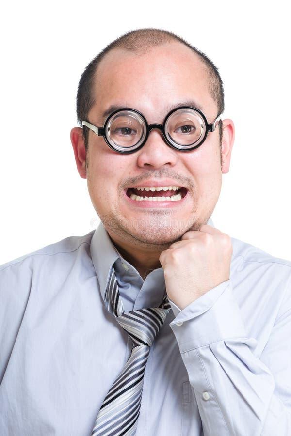 Homem de negócios Excited imagem de stock