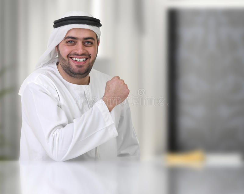 Homem de negócios/executivo árabes bem sucedidos fotos de stock
