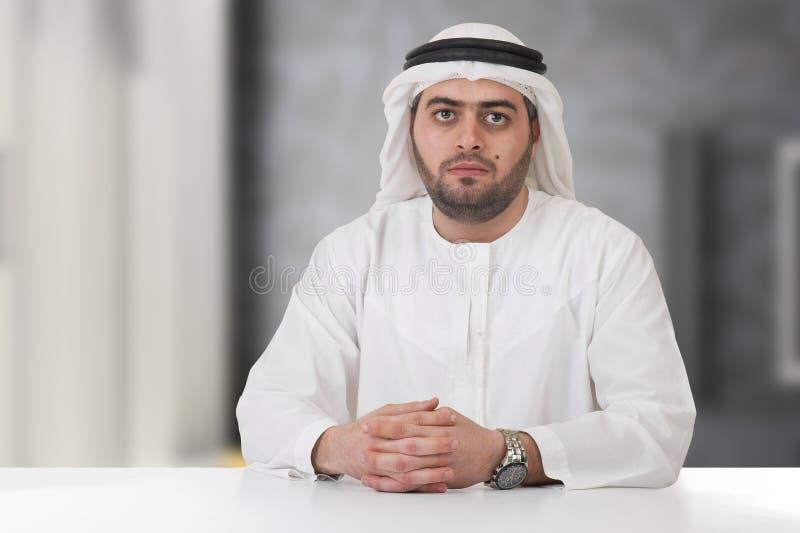 Homem de negócios/executivo árabes bem sucedidos fotografia de stock
