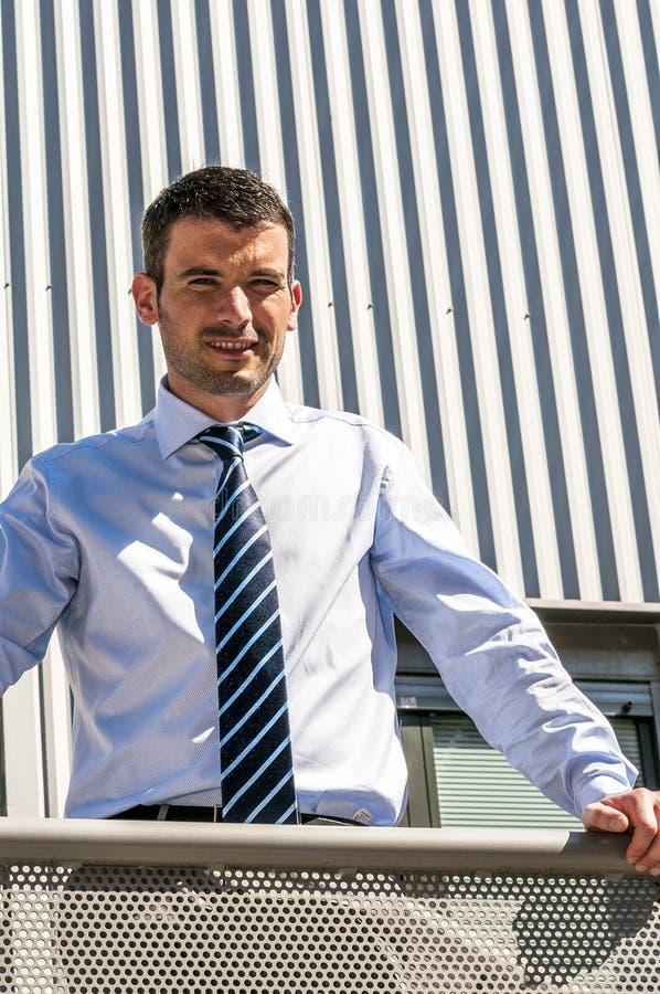 Homem de negócios exterior fotografia de stock