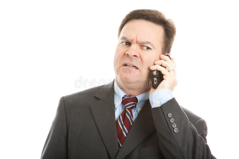 Homem de negócios - face preocupada imagens de stock