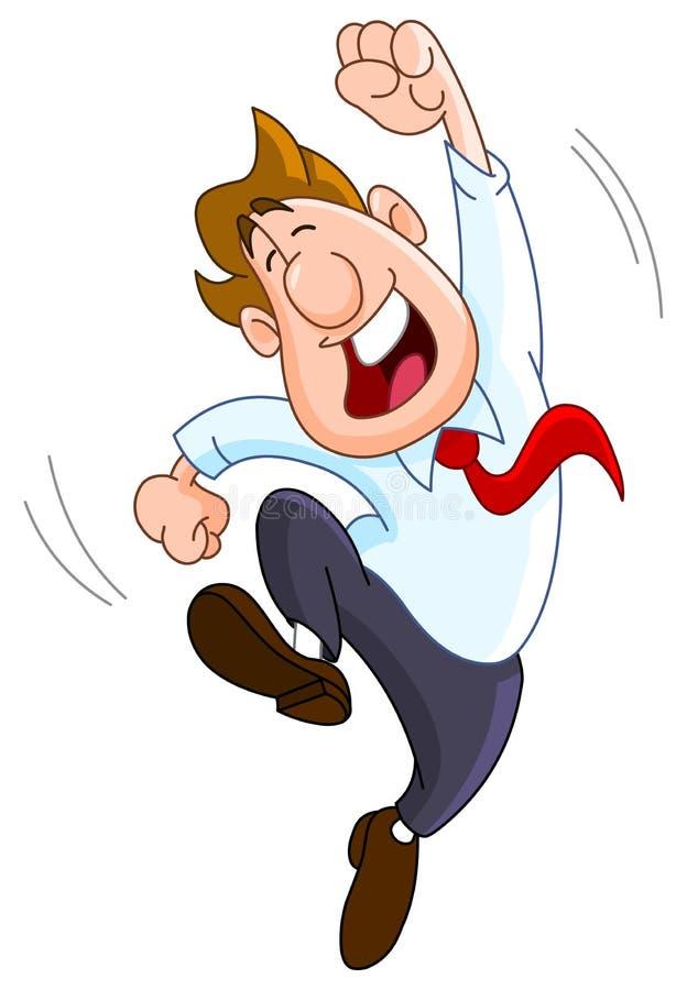 Homem de negócios feliz ilustração do vetor