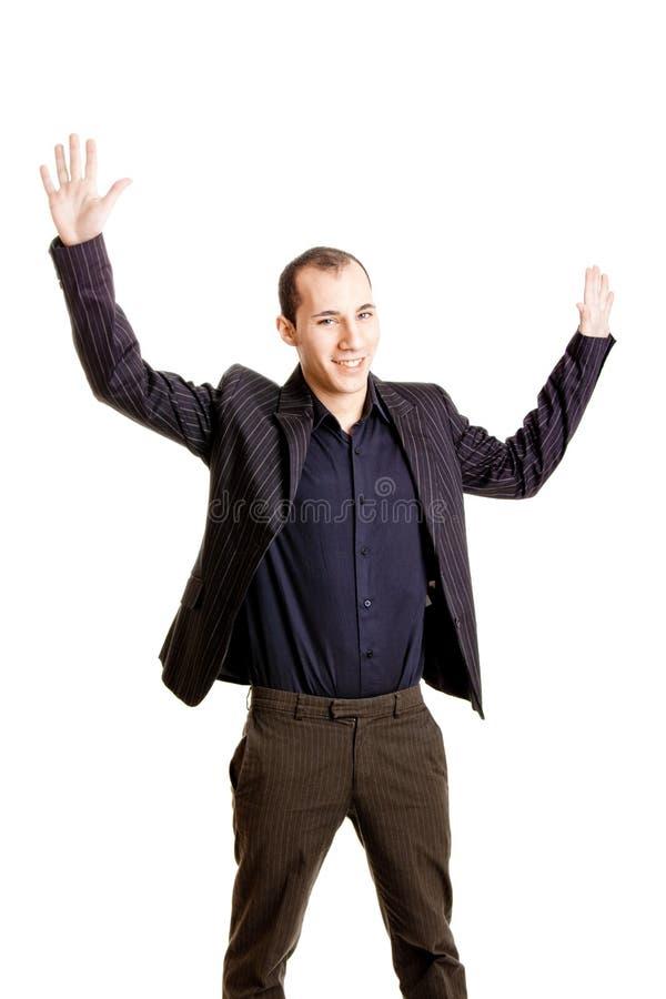 Homem de negócios feliz fotos de stock