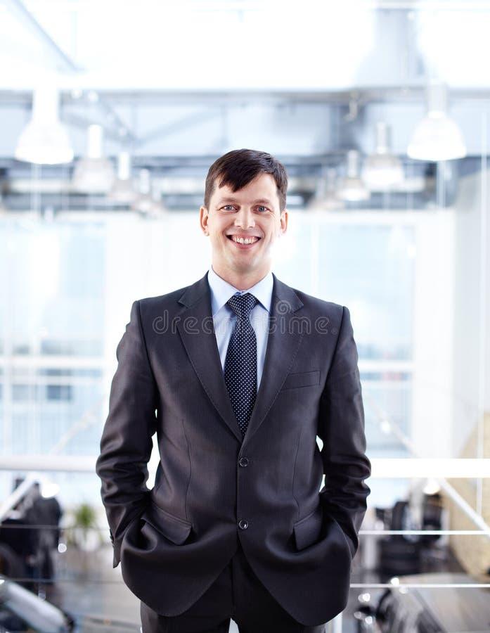 Homem de negócios feliz fotografia de stock