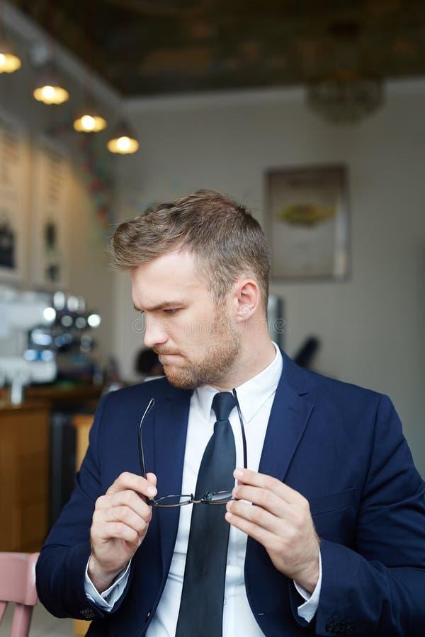 Homem de negócios fino foto de stock