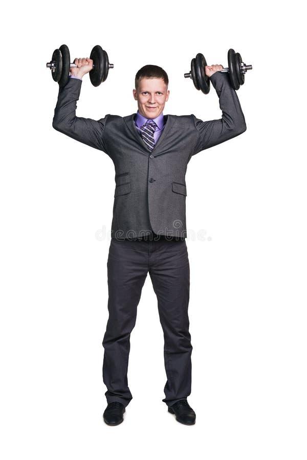 Homem de negócios forte imagem de stock